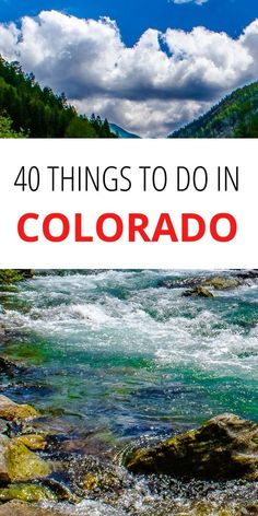 Colorado Bucket List.This is the ultimate list of amazing things to do in Colorado including a Denver, Colorado bucket list Fill Your Bucket, North America Destinations, Bucket List Destinations, Cool Places To Visit, Adventure Travel, The Good Place, Travel Inspiration, Things To Do, Travel Photography