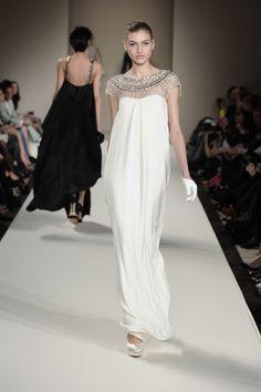 Long Crystal Stud Column Dress,AW13