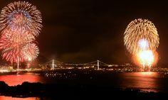 The Kanmon Straits Fireworks 2012