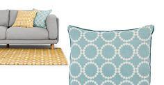 Agadir 100% Linen Cushion 50 x 50cm, Duck Egg and Teal