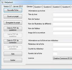 Pallyelect est un logiciel qui permet de créer des fiches de lecture simplement car tout le travail de mise en page se fait de façon automatique.
