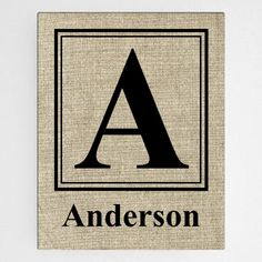 Personalized Family Initial Canvas Sign – Personalized Gifts