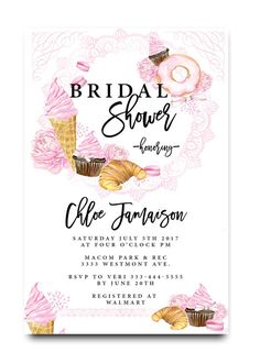 43 best cheap bridal shower invitation images on pinterest cheap brunch bridal shower invitation donuts ice cream cupcakes watercolor bridal shower filmwisefo