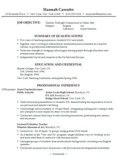 Chronological Resume Sample Esl Instructor  Teaching