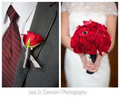 JD Designs Styled: Lea St. Germain Photography - #smithandwollensky #HighEndWedding #romanticwedding #fsog #fiftyshadesofgrey #bellaserabridal #exquisitelinensandflorals #giblees #stylish #gold #chic #sexy #luxurywedding #boston #wedding #red #gray #redbouquet Red And White Wedding Themes, Red Wedding, Luxury Wedding, Wedding Stuff, Wedding Day, Valentines Day Weddings, Portfolio Design, Boston, Wedding Inspiration