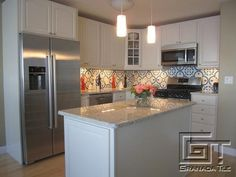 A Bright Take on Normandy for a Cement Tile Backsplash