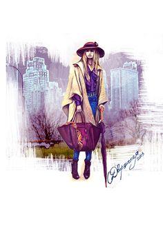 Street fashion NY OlgaDvoryanskaya olga@pr-butik.com fashion illustration  #fashion#illustration