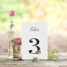 """©La Marimorena Creativos - """"Modelo Aires del Sur"""". Número de mesa para bodas. www.lamarimorenacreativos.bigcartel.com"""