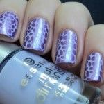 This is an easy way to put a perfect dotted design through stamping.