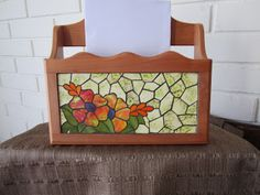 Mosaico Mosaic Patterns, Flower Patterns, Mosaic Glass, Stained Glass, Mosaic Crafts, Glass Boxes, Ideas Para, Places To Visit, Flowers