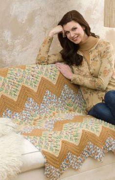 Wavy Ripple Throw Free Crochet Pattern from Red Heart Yarns