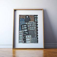 PRINT | NEIGHBORHOOD: Illustration Print. by ekinakis on Etsy