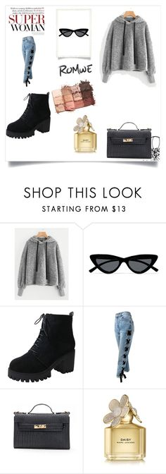 """Untitled #12"" by arnel-928 ❤ liked on Polyvore featuring Le Specs, Sans Souci, Marc Jacobs and tarte"