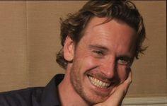 Michael Fassbender's smile
