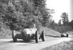 1938, August 21: Bremgarten: Swiss Grand Prix. Jean-Pierre Wimille (Alfa Romeo 312)