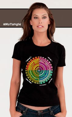 Zentangle on tshirt | My Creations | #zentangle #tangle #doodle #tshirt #myart #mytangle #zendala #fashion #cool #colors #4moments #woman #unisex