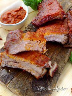Costine con salsa barbecue arrosto di maiale, carne morbida al forno, come cuocere le costine di maiale, Come fare il dry rub, costine al barbecue, costine bbq, cottura bbq, Cucina barbecue, maiale al forno, ricette con maiale, salsa bbq