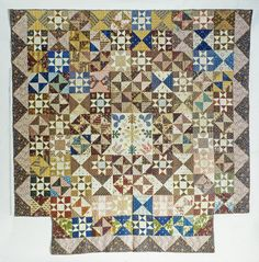 1800 - 1850 Pieced Quilt Maker unknown (from Smithsonian Institution)