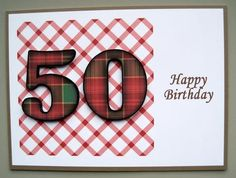 50th birthday on Craftsuprint designed by Gail Collins - made by Margaret Bleazard - I placed the base layer of this design onto good quality card stock and then decoupaged the remaining elements on top using 3mm sticky pads. - Now available for download!