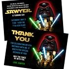 LEGO STAR WARS Birthday Party Invitation and Thank You Note Combo