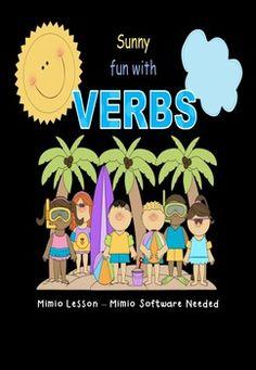 Verbs Fun in the Sun Mimio lesson - http://www.teacherspayteachers.com/Product/Verbs-Fun-in-the-Sun-Mimio-lesson#