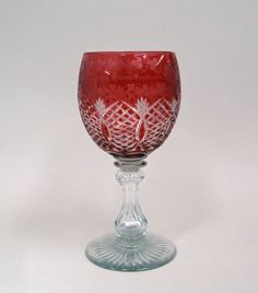 Red Glass Overlay Chalice | Corning Museum of Glass