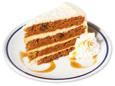 CARROT CAKE  Quattro strati di soffice Pan di Spagna alle Carote ricoperti da un sapore tutto da scoprire!