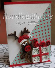 Paper quilling christmas