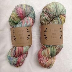 Lichen and Lace 1ply Superwash Merino Fingering Weight hand dyed yarn ~ wild flowers