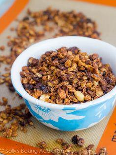 Oatmeal Raisin Cookie Granola by sallysbakingaddiction.com