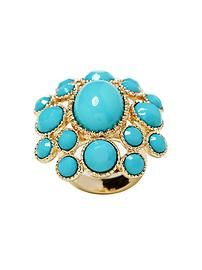 Love this big turquoise cocktail ring!
