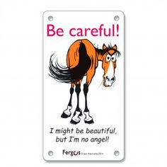Fergus Stall Sign I'm No Angel is an excellent product we know our customers will love. Fergus Stall Sign I'm No Angel. Some horses need a little extra patience