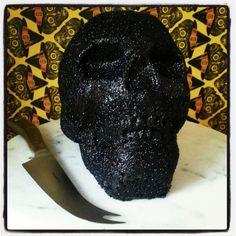 Black Velvet Skull Cake - my black velvet cake tastes like an Oreo, so it's devilishly delicious.