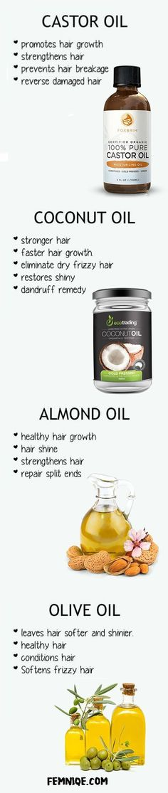 What Makes Your Hair Grow Faster? These 10 Things remedies for hair loss in women coconut, almomd and olive oil hair loss grow your hair faster remedies to grow your hair longer Cabello Afro Natural, Dry Frizzy Hair, Thinning Hair, Curly Hair, How To Grow Your Hair Faster, How To Regrow Hair, Grow Natural Hair Faster, Oil For Hair Loss, Fast Hairstyles