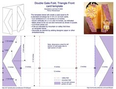 Card Templates : Double Gate fold