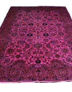 6x9 #pink #vintage #rug #overdyed #persian #antique #oneofakind #luxury