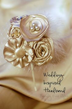 Wedding inspired headband with french netting. Picture Tutorial