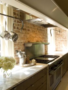 Stunning Contemporary Kitchen Inspired by Colonial Era with beauteous photo: Exciting Details Modern Williamsburg Kitchen White Marble Countertop As Exciting Photos ~ ovceart.com Kitchen Inspiration