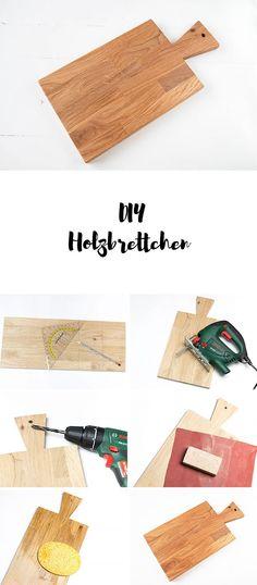 Anleitung DIY Holzbrettchen - Schneidebrettchen aus Holz einfach selber machen