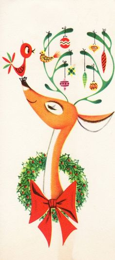printable vintage Christmas cards and images