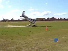 Comment échouer à son passage du brevet de pilote et retourner un Cessna http://twit.lu/fs