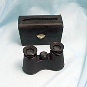 1924 Art Deco Carl Zeiss Opera Glasses with Original Purse Case