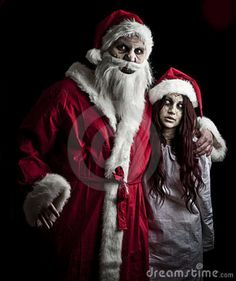 Photo about Portrait of a scary looking santa claus and an elf. Image of nightmare, spooky, bizarre - 17308896 Dark Christmas, Christmas Images, Santa Christmas, Xmas, Friday The 13th Funny, Santa Claus Drawing, Creepy, Scary, Cute Easy Drawings