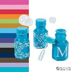 Monogrammed Bubble Bottles 48 for $10.50