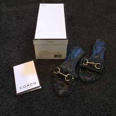 "Coach ""Pattie"" Sandal Coach sandal. Size 6.5. Lightly worn. Comes with box and care instructions. Coach Shoes Sandals"