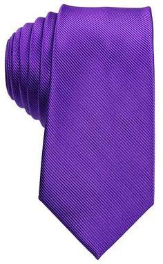 Purple Tie with Diagonal Ridge Detail