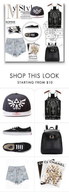 """Romwe 8"" by amra-f ❤ liked on Polyvore featuring Vans, Assouline Publishing, Chanel, black, 1d, romwe and 5sos"