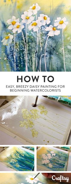 Follow along and learn how to paint a daisy with watercolors.