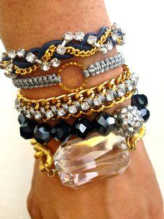 stacked bracelets - Google Search