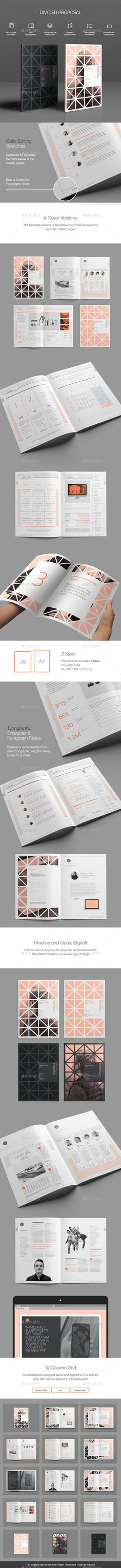 Divided Proposal Template InDesign INDD #design Download: http://graphicriver.net/item/divided-proposal-template/13185069?ref=ksioks